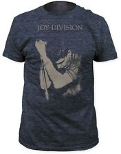 Joy Division - Ian Curtis Photo Pose Heather Navy T-shirt - BRAND NEW