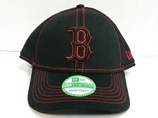 YOUTH Boston Red Sox New Era 39Thirty Cap Jr Blackteam Neo Stretch Fit Hat