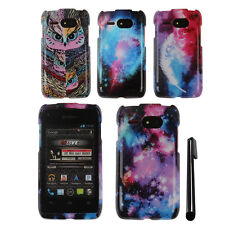 For Kyocera Event C5133 PATTERN HARD Protector Case Phone Cover + Pen