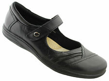PLANET SHOES JAMIE WOMENS/LADIES LEATHER MARY JANE COMFORTABLE CASUAL SHOES/WORK