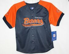 NEW Kids Youth NFL Reebok Chicago Bears Football Blue Baseball Style Jersey