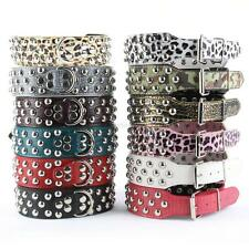 Spiked Studded PU Faux Leather Large Pet Dog Collar Spikes Neck Strap XS-L J90