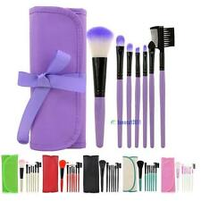 7pcs/set Makeup Blush Eyeshadow Lip Brush Cosmetic Brushes Set Kit + Bag Case BS