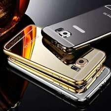 Deluxe Metal Aluminum Ultra Thin Mirror Slim Back Case Cover For Samsung Models