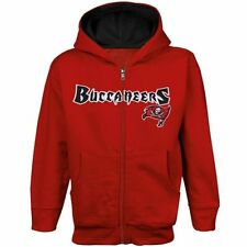 Tampa Bay Buccaneers Baby Red Full-Zip Wordmark Jacket with Hood
