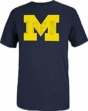 Michigan Wolverines Short Sleeve Guts and Glory T By Adidas-Navy Yellow