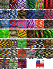 550 paracord parachute cord Type III 7 Strand Camo Patterns 10ft 20ft 50ft 100ft