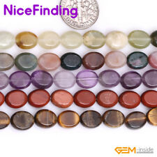 """Natural 8x10mm Oval Gemstone Beads For Jewelry Making Loose Beads Strand 15"""" DIY"""