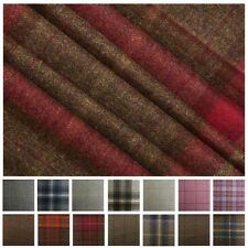 100% Pure Scotish Upholstery Wool Woven Tartan Check Plaid Curtain Tweed Fabric