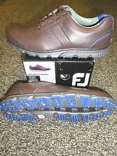 NEW FootJoy DRYJOYS CASUAL Golf Shoes, BROWN/BLUE, Style 53522, PICK SIZE