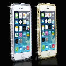 Crystal Diamond Bling Rhinestone Metal Bumper Frame Case Cover for iPhone 5 5S