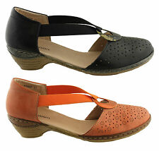 CINNAMON CANDY WOMENS/LADIES COMFY LIGHTWEGHT LEATHER HEEL SANDALS/SHOES
