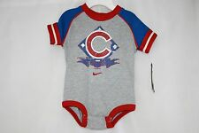 NEW Infant Toddler Nike Chicago CUBS 1876 MLB Gray 2 Piece Shirt and Short Set