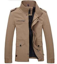 New Winter Mens casual fashion Slim Fit Stand Collar warm jacket coat Outwear