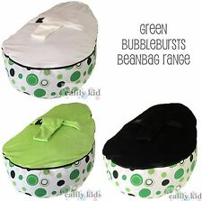 NEW Baby Kids Portable Bean Bag Seat - GREEN BUBBLEBURSTS - ACCC approved