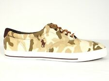 Polo Ralph Lauren Vaughn Tan Camouflage Casual Shoes Sneakers Mens NEW