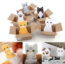 Cute Mini Kitty Cat House Sticker Post Pad Bookmark Mark Tab Memo Sticky Notes