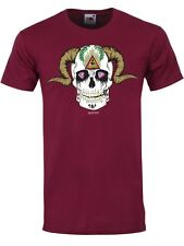 Unorthodox Demon Skull Men's Burgundy T-Shirt