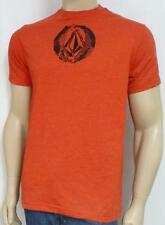 Volcom Stone Opp Stone Double Logo Mens Red T-Shirt Cotton Blend New NWT