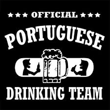 OFFICIAL PORTUGUESE DRINKING TEAM (Portugal beer weed football drunk) T-SHIRT
