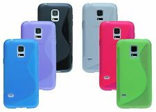 Accessory Set Bundle Silicone Case + Foil for Samsung Galaxy S5 Mini G800F
