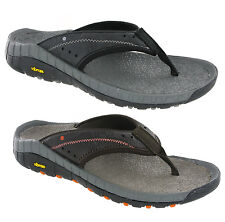 Mens Hi-Tec Sierra Canyon Thong Leather Walking Trail Slip On Sandals Size 7-12