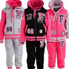 24brands Girl Sport Suit Tracksuit Jump Suit Jacket Trousers Jogging Suit