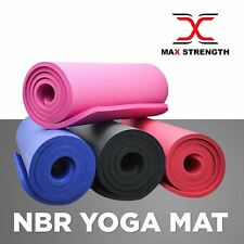 Yoga Fitness Exercise Mat and Carry Bag Thick Foam Non Slip 6mm Gym Workout Mats