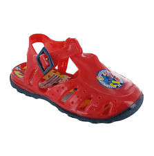 Fireman Sam Beach Sea Sandals Boys Infants Summer Holiday Jelly Shoes UK3-9