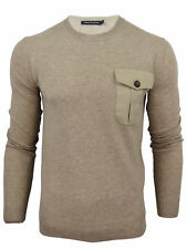 French Connection/ FCUK Mens Lambswool Crew Neck Jumper with Pocket