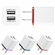 Dual USB 2.1A/1A Home Wall Power Charger Adapter US Plug for iPhone i Pad iPod