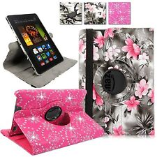 For Amazon Kindle Fire HDX 7' inch Tab 2013 PU Leather Rotating Folio Stand Case