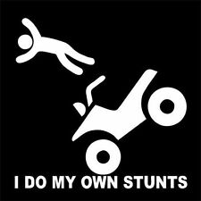 I DO MY OWN STUNTS (driver goggles uniform ATV kid buggy helmet camera) T-SHIRT