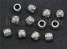 20/100/500pcs Antique Silver Cylinder Spacer beads Charms Jewelry DIY 6x5mm