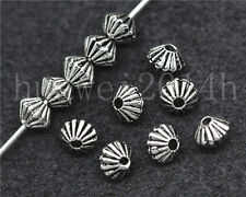 30/150/800pcs Antique Silver prismatic Charm Spacer Beads Jewelry Making 5x4mm
