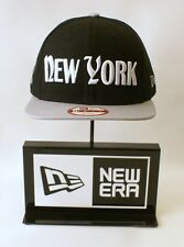 New Era 9FIFTY New York Punisher Black Hat White Logo Snapback Hat Baseball Cap
