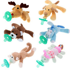 Cute Baby Silicone Pacifiers With Plush Animal Toy Chupetes Baby Pacifier Nipple