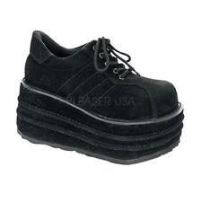 Demonia Tempo-08 goth gothic cyber black platform shoes sneakers women's 6-15