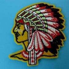 Native American Indian Chief Ethnic Applique Iron on Sew Patch Biker Embroidery