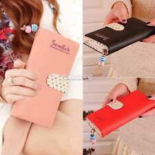 Women Lady Long PU Purse Clutch Wallet Zip Bag Coin Card Holder Handbag Case EA