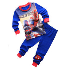 Baby Boys Clothing Kids Spiderman T-shirt+Pants Pajamas Sets Sleepwear Outfits