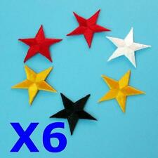 6 Star Iron on Sew on Embroidered Badge Patch Sewing Cowboy Rock Biker Punk