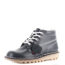 Womens Kickers Kick Hi Core Navy White Nat Leather Lace Up Ankle Boots Size