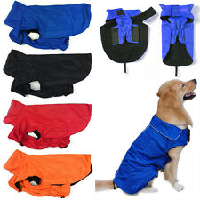 Waterproof Dog Coat Jacket Fleece Lined Reflective Raincoat Dog Clothes S-3XL LD