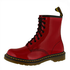 DR DOC MARTENS 1460 W BOOTS 8-HOLE BOOTS RED PATENT LAMPER 11821606