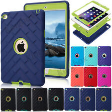 Tyre Tread Soft Rubber Shockproof Hybrid Hard Case Cover For iPad & mini 1 2 3 4