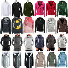 Various Womens Jumper Top Zip Hoodie Jacket Coat Long Sleeve Sport Sweater Shirt