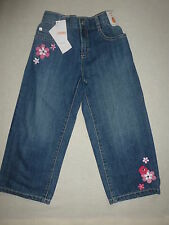 Gymboree FLORAL MERMAID Denim Blue Jean Flower Floral Capri Pants NWT 12