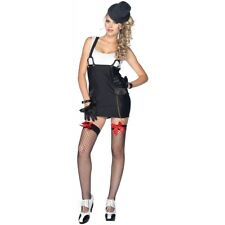 Gangster Costume Adult Female Mobster Sexy Mafia Girl Halloween Fancy Dress