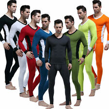 Men's Cotton Thermal Underwear Warm suit Long Sleeved Vest Top & Long Johns XL-M